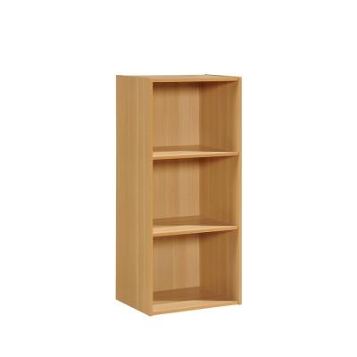 3-Shelf, 36 in. H Beech Bookcase