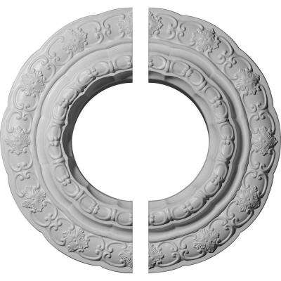 15-3/8 in. O.D. x 7 in. I.D. x 1 in. P Lisbon Ceiling Medallion (2-Piece)
