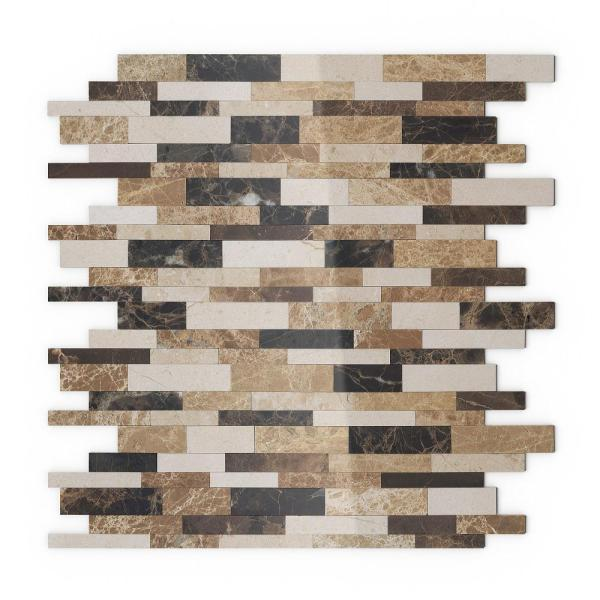 Inoxia Speedtiles Amber Brown 11 65 In X 11 34 In X 5 Mm Stone Self Adhesive Wall Mosaic Tile Is201 2 The Home Depot