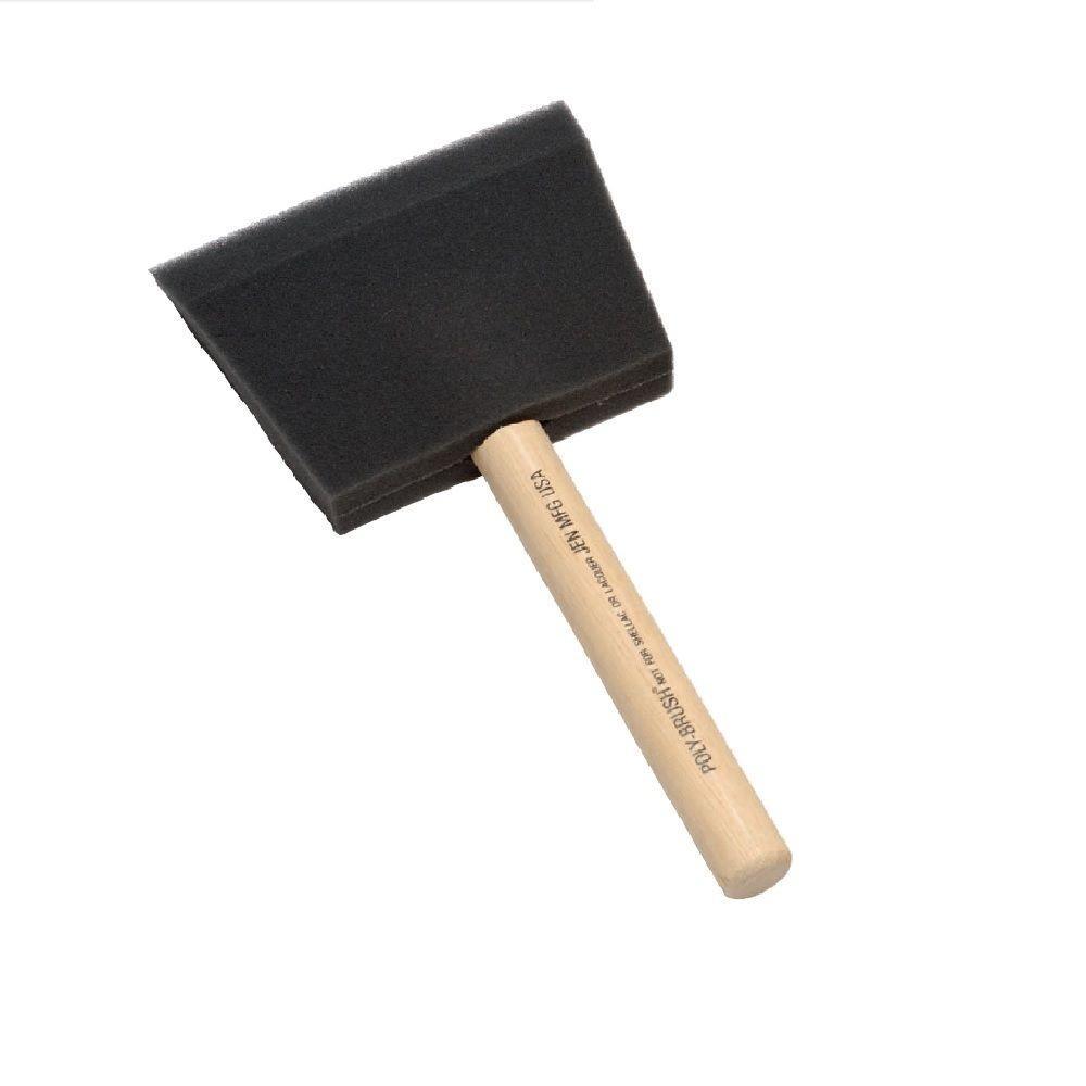 4 in. Poly Foam Brush (24-Case)