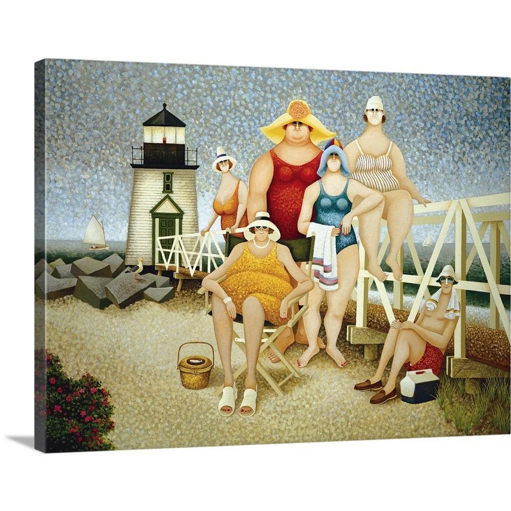 """Beach Vacation"" by Lowell Herrero Canvas Wall Art"