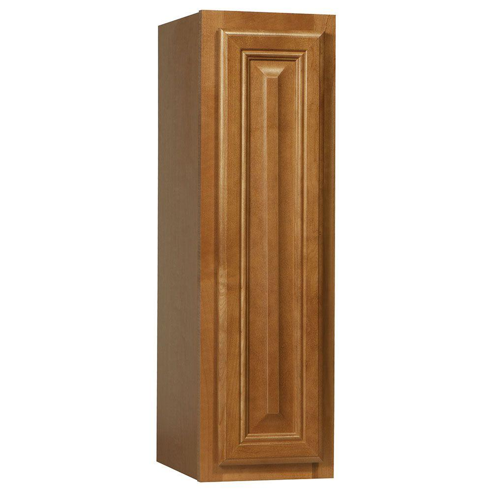 Cambria Assembled 9x30x12 in. Wall Kitchen Cabinet in Harvest