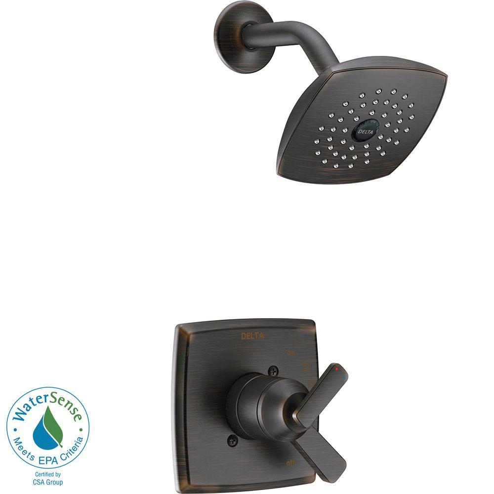 Ashlyn 1-Handle Pressure Balance Shower Faucet Trim Kit in Venetian Bronze