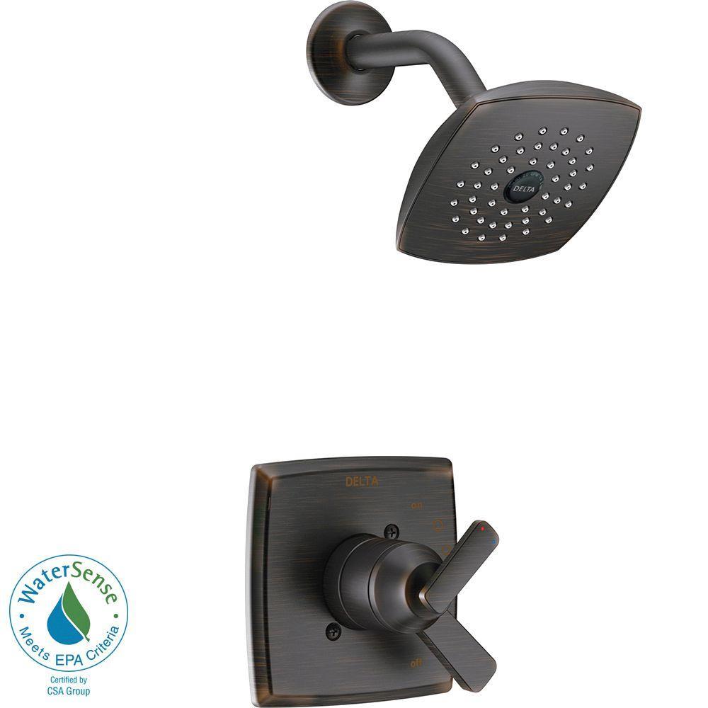 Ashlyn 1-Handle Pressure Balance Shower Faucet Trim Kit in Venetian Bronze
