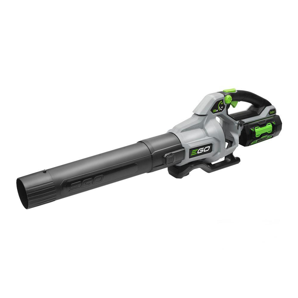 EGO 168 MPH 580 CFM 56V Lithium-Ion Cordless Electric Variable-Speed Blower, 5.0 Ah Battery and Charger Included