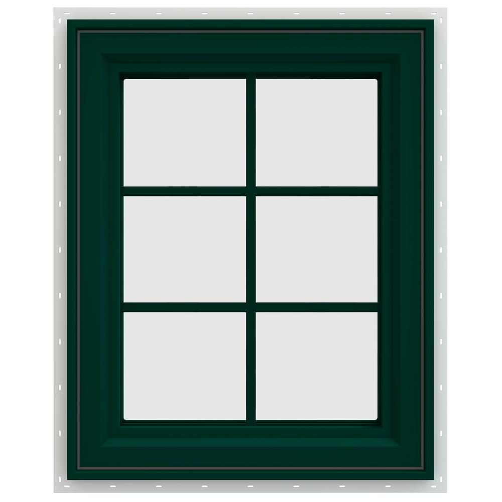 23.5 in. x 29.5 in. V-4500 Series Left-Hand Casement Vinyl Window