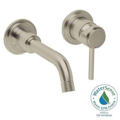atrio double hole vessel bathroom faucet in brushed nickel infinity finish