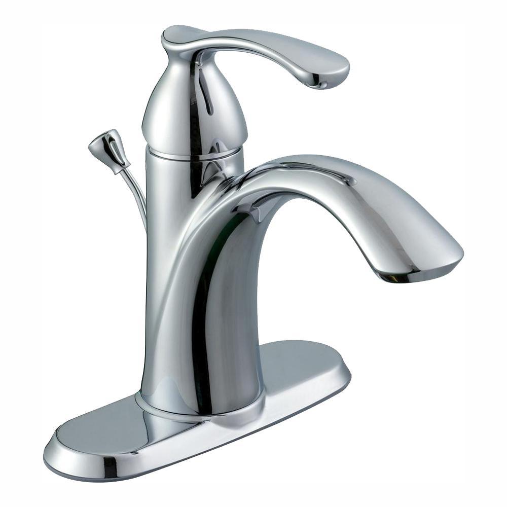 Edgewood Single Hole Single-Handle High-Arc Bathroom Faucet in Chrome