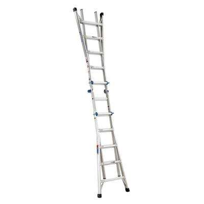 22 ft. Reach Aluminum Telescoping Multi-Position Ladder with 300 lbs. Load Capacity Type IA Duty Rating