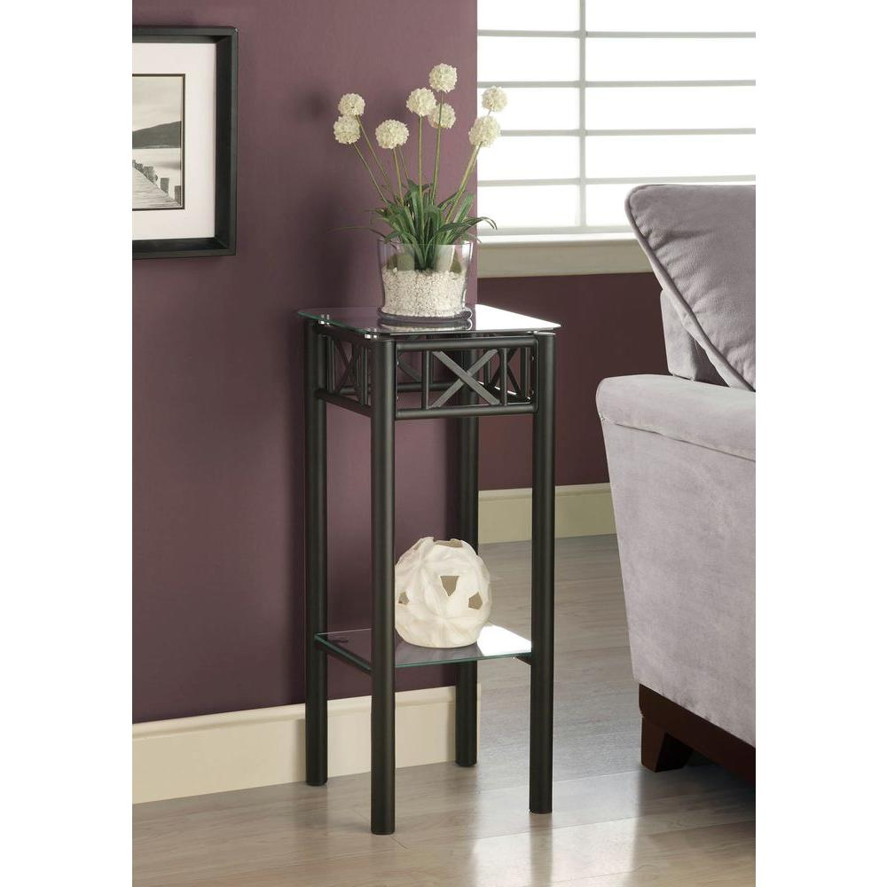 4d concepts black indoor plant stand 601608 the home depot Plant stands for indoors