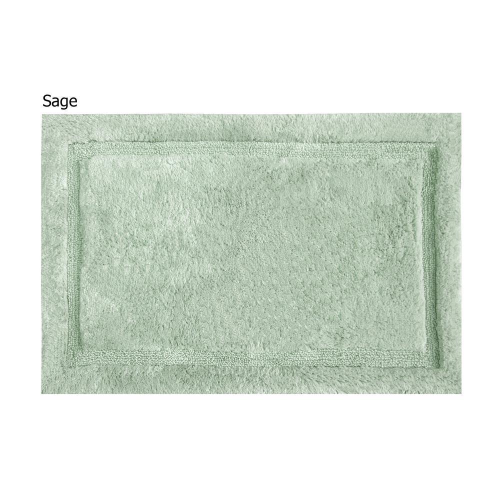 Asheville 24 inch x 60 inch 100% Organic Cotton Bath Rug in Sage by