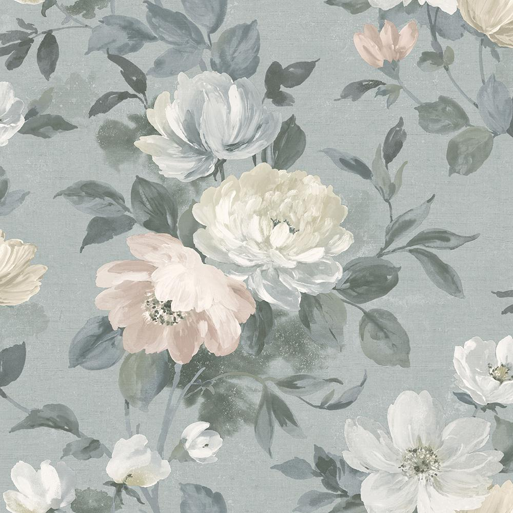 Wall Vision Peony Grey Floral Wallpaper Sample 2827 7224sam The