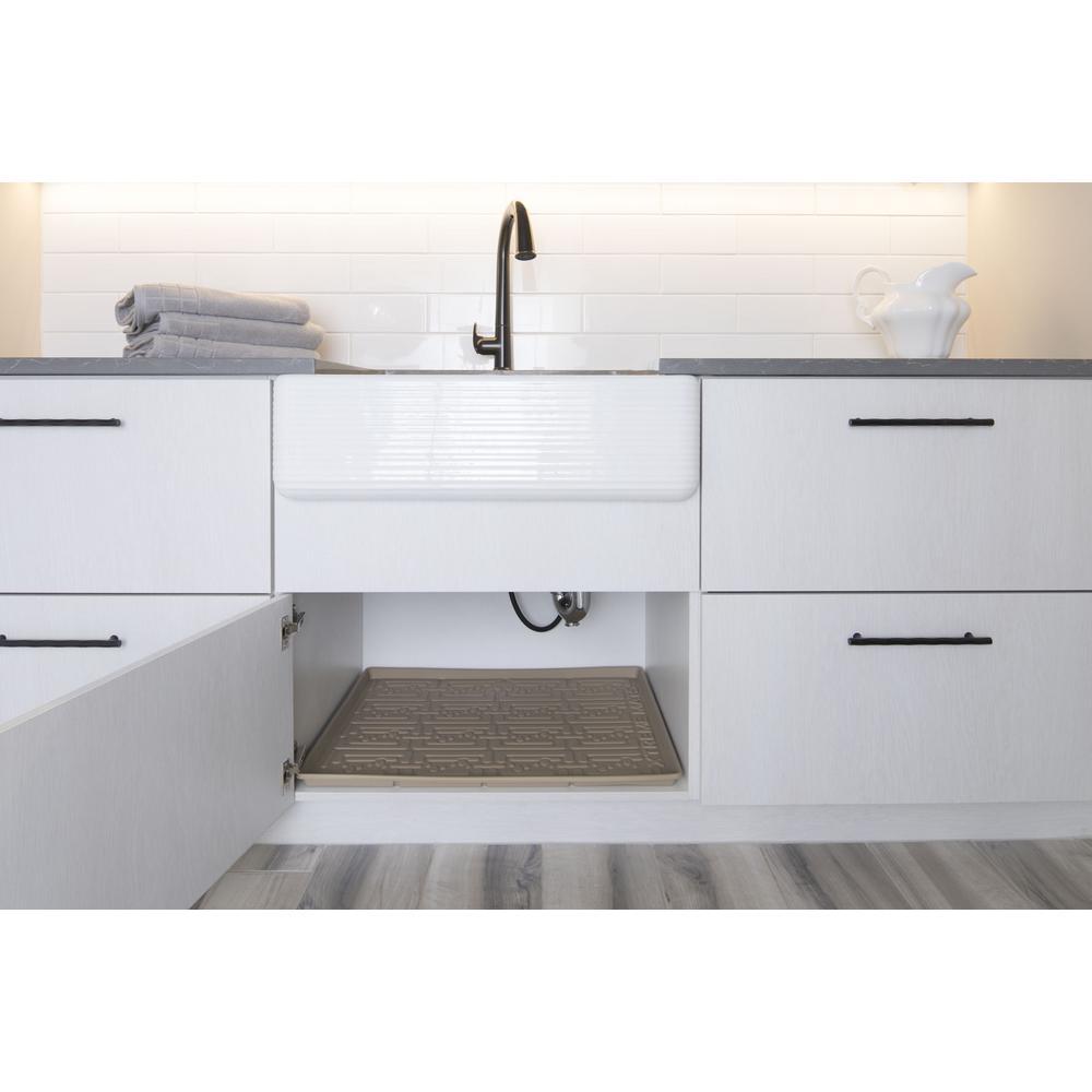 Surprising Xtreme Mats 27 5 8 In X 18 7 8 In Beige Bathroom Vanity Download Free Architecture Designs Crovemadebymaigaardcom