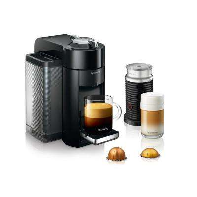 Vertuo Single Serve Coffee and Espresso Machine by De'Longhi with Aeroccino in Black