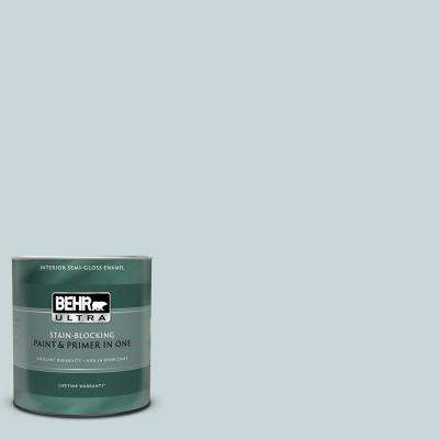 1 qt. #PPU13-16 Offshore Mist Semi-Gloss Enamel Interior Paint and Primer in One