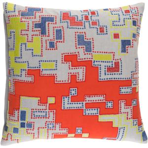 Mecklen Orange Geometric Polyester 20 in. x 20 in. Throw Pillow