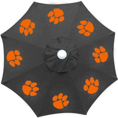 9 ft. Clemson University Black Patio Umbrella