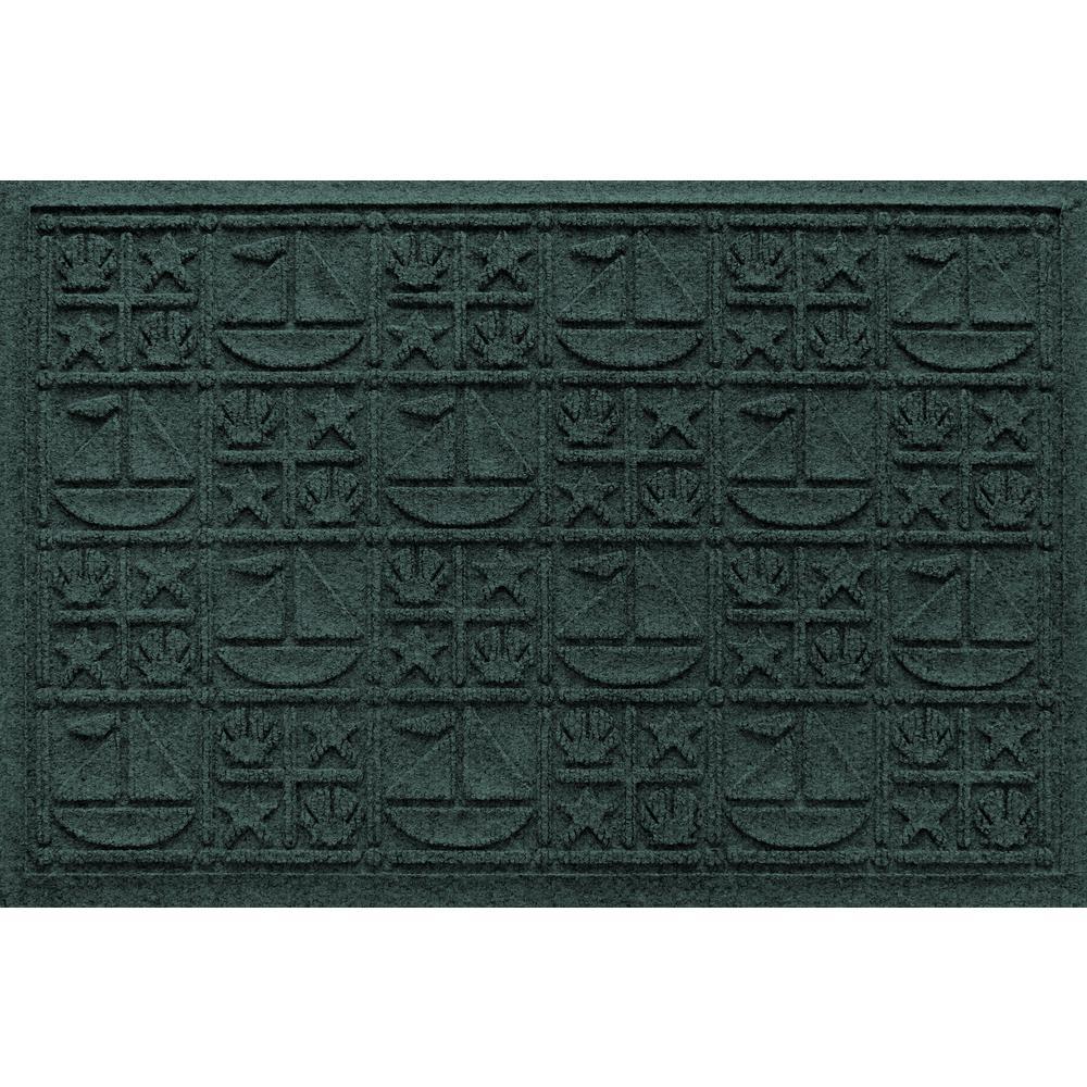 Evergreen 24 in. x 36 in. Nautical Polypropylene Door Mat