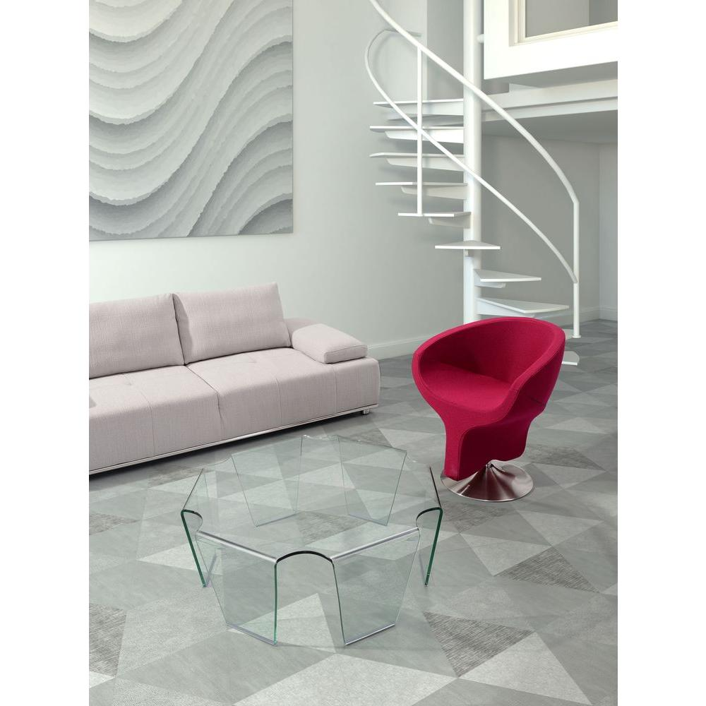 ZUO Clear Glass Coffee Table