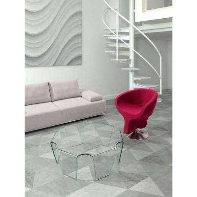 Clear Glass Coffee Table