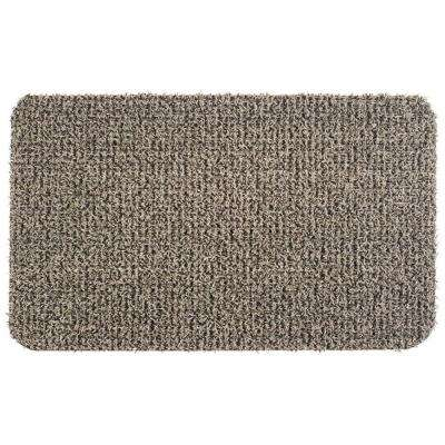 Flair Earth Taupe 18 in. x 30 in. Door Mat