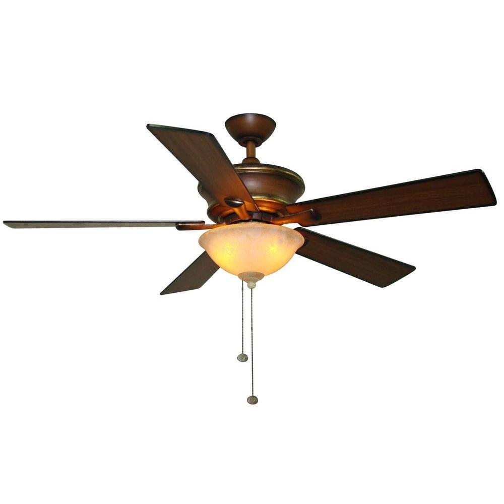 Hampton Bay Edisto 52 in. Berre Walnut Ceiling Fan-DISCONTINUED