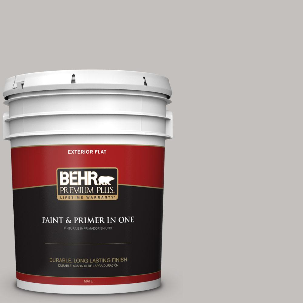 5 gal. #PPU18-10 Natural Gray Flat Exterior Paint