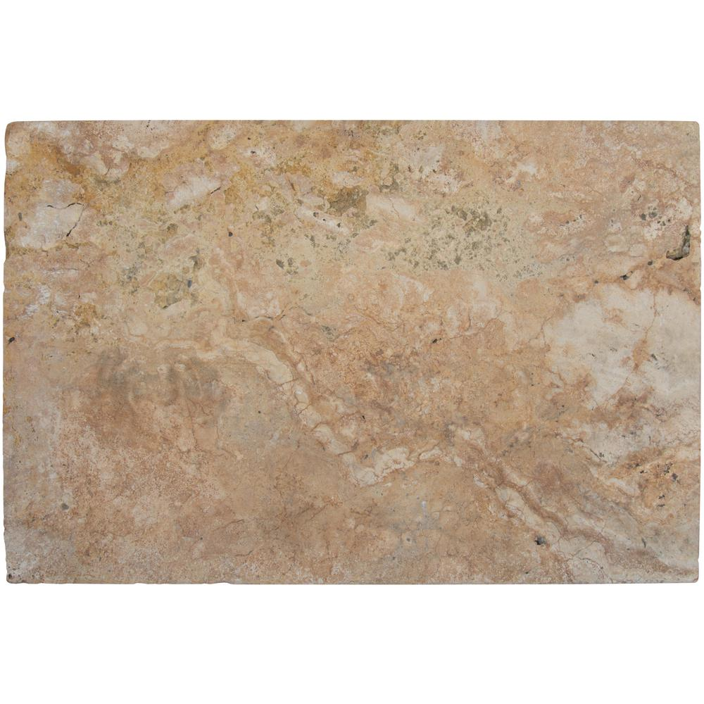 MSI Riviera 16 in. x 24 in. Brushed Travertine Pool Coping (10 Piece / 26.7 Sq. ft. / Pallet)