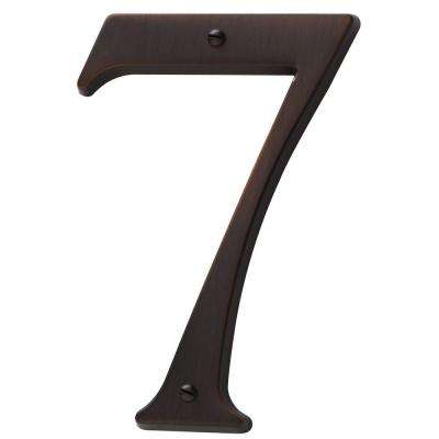 4.75 in. Flush Mount Venetian Bronze Number 7