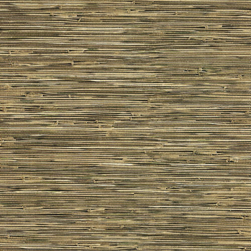 Green Grasscloth Wallpaper: Brewster Lepeka Dark Green Grasscloth Wallpaper-412-44141