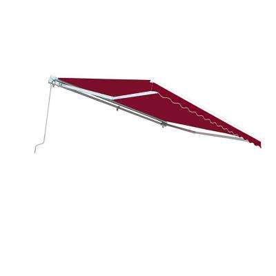 10 ft  Manual Patio Retractable Awning (96 in  Projection) in Burgundy
