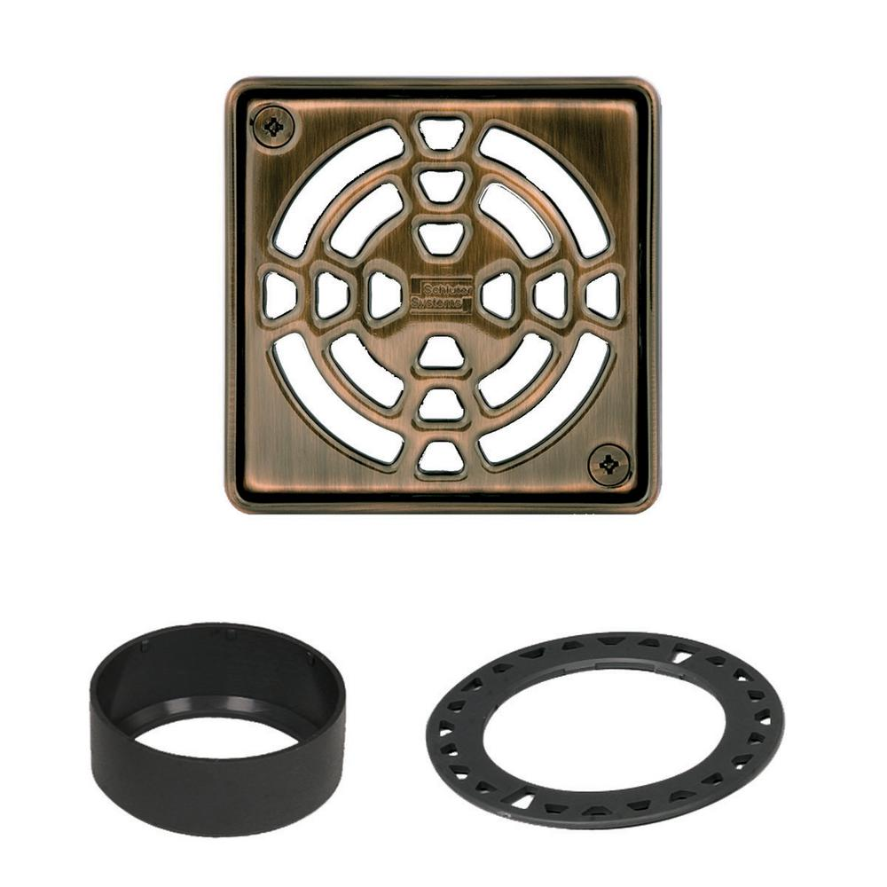Schluter Kerdi-Drain 4 in. Oil-Rubbed Bronze Grate