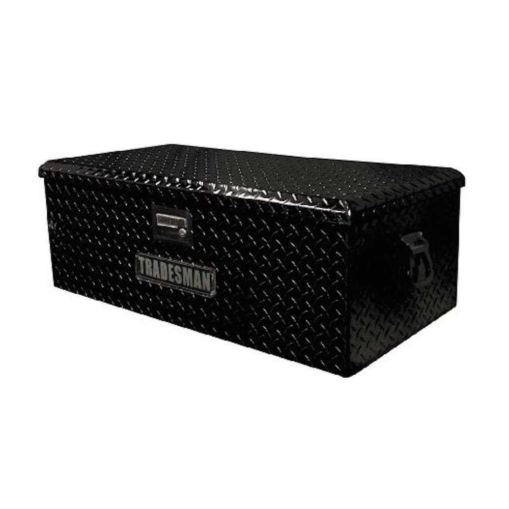36 in. Aluminum ATV Storage Box, Black