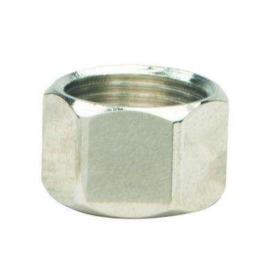 3/8 in. O.D. Compression Nut in Polished Nickel