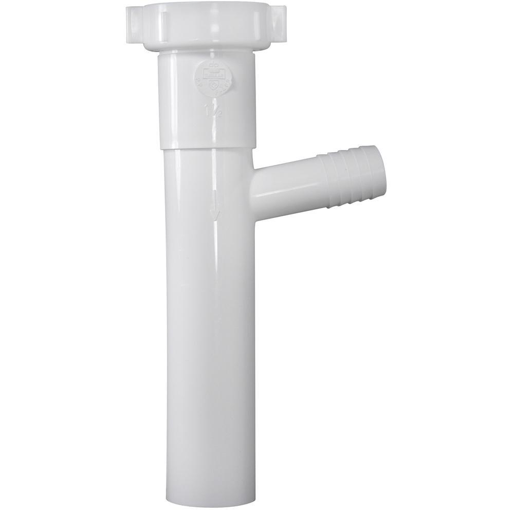 1-1/2 in. x 8 in. Plastic Dishwasher Branch Tailpiece