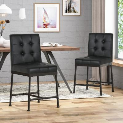 Commonwealth 24 in. Black Counter Stool (Set of 2)