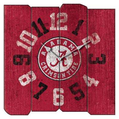 University of Alabama Vintage Square Clock
