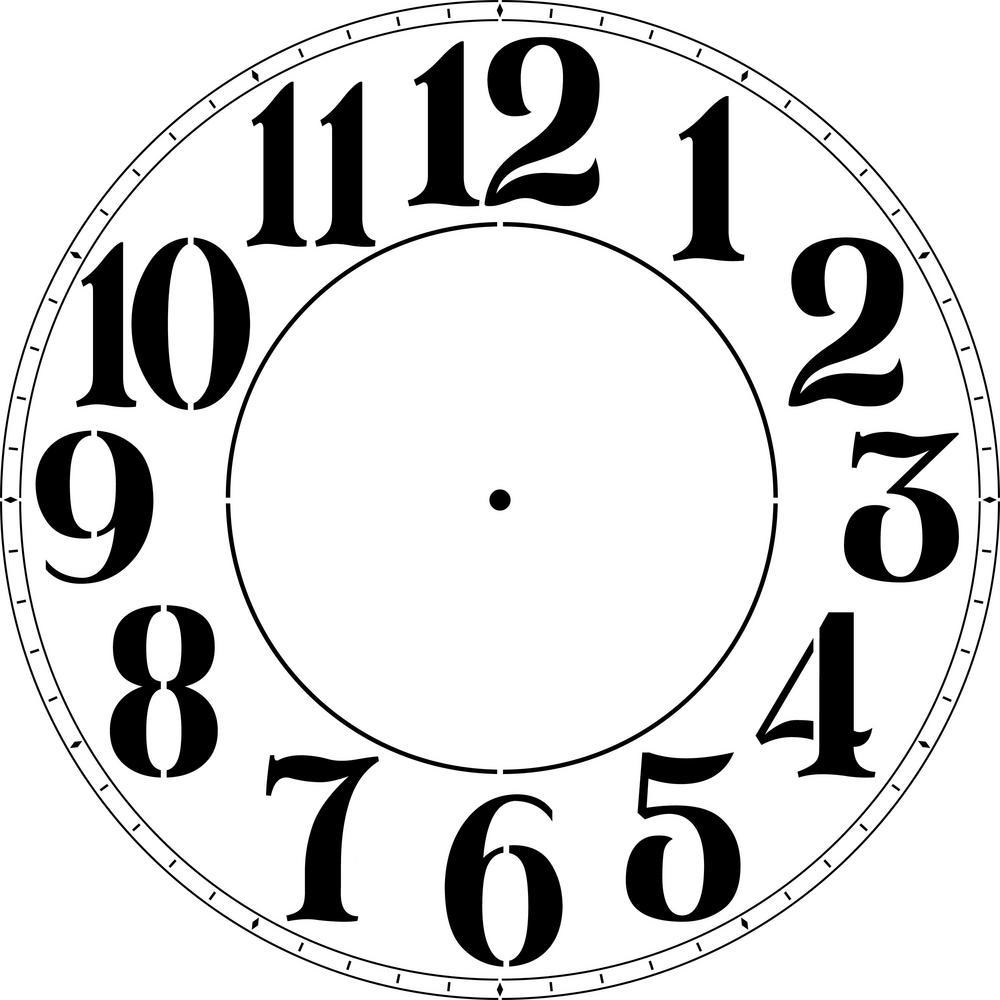 Modern Numeral 18 in. Clock Stencil