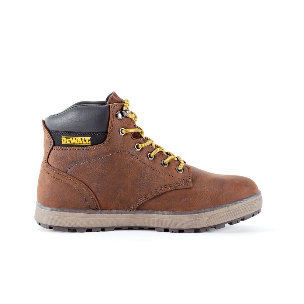 DEWALT Plasma Men's Brown Leather Steel Toe 6 in. Work Boot
