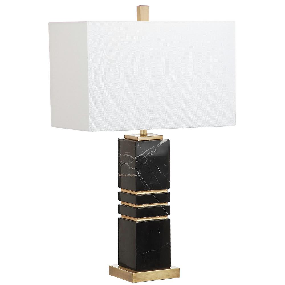 Safavieh Jaxton Marble 27 5 In Black Gold Table Lamp