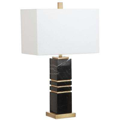 Jaxton Marble 27.5 In. Black/Gold Table Lamp