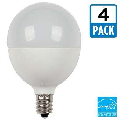60W Equivalent Soft White G16-1/2 Dimmable LED Light Bulb (4-Pack)