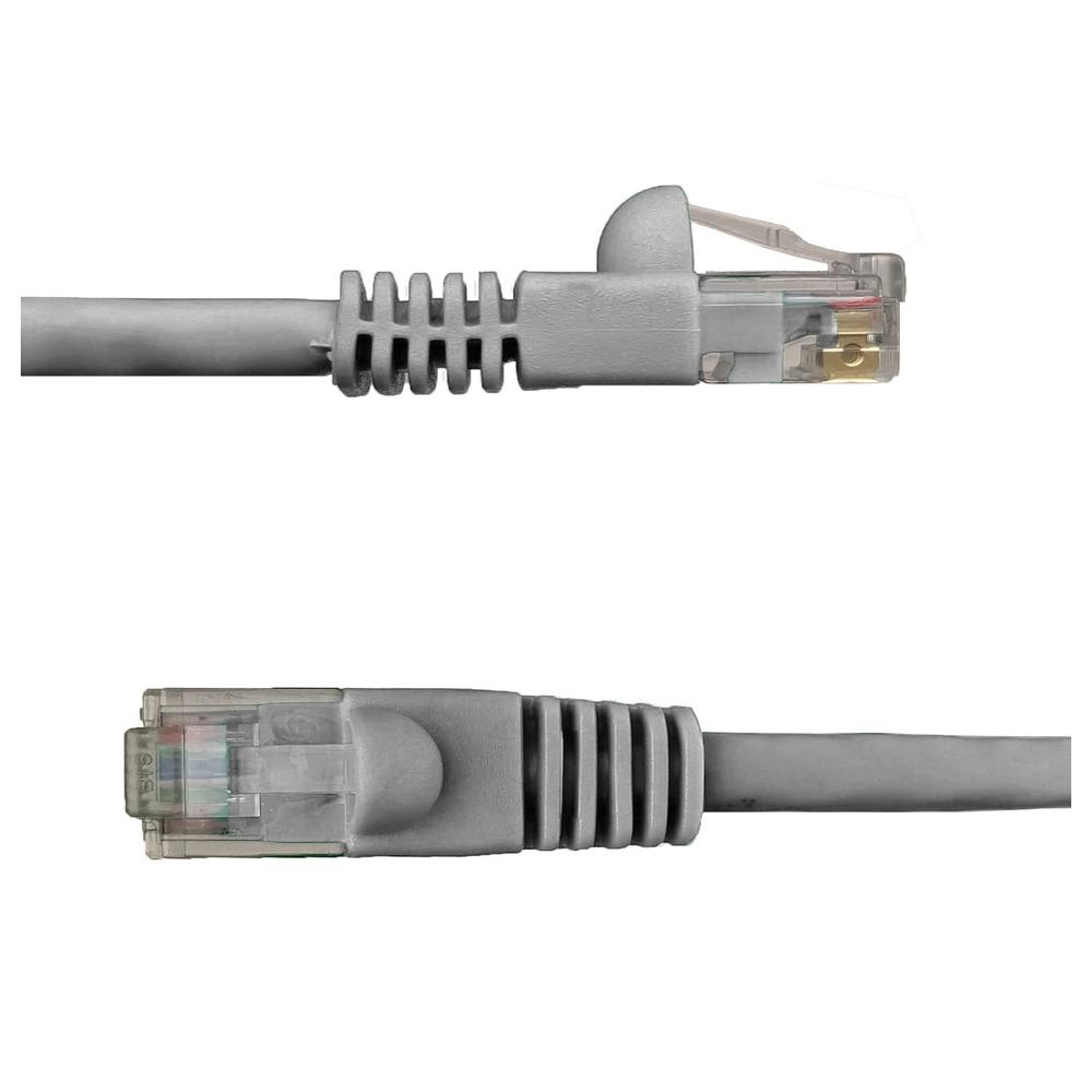 NTW 25 ft. Cat6 Snagless Unshielded (UTP) Network Patch Cable, Gray 25 ft. UTP Category 6 Patch Cable with 50u' plug gives you fast and reliable connection for a wide range of compabilities. Designed to work with network adapters, hubs, switches, routers, DSL/cable modems, patch panels and other high performance networking applications. Meets all Cat6 TIA/EIA standards which reduce return loss and minimize near end cross talk leves.
