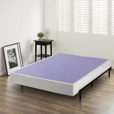 Edgar 8 Inch Profile Wood Box Spring Mattress Foundation Queen