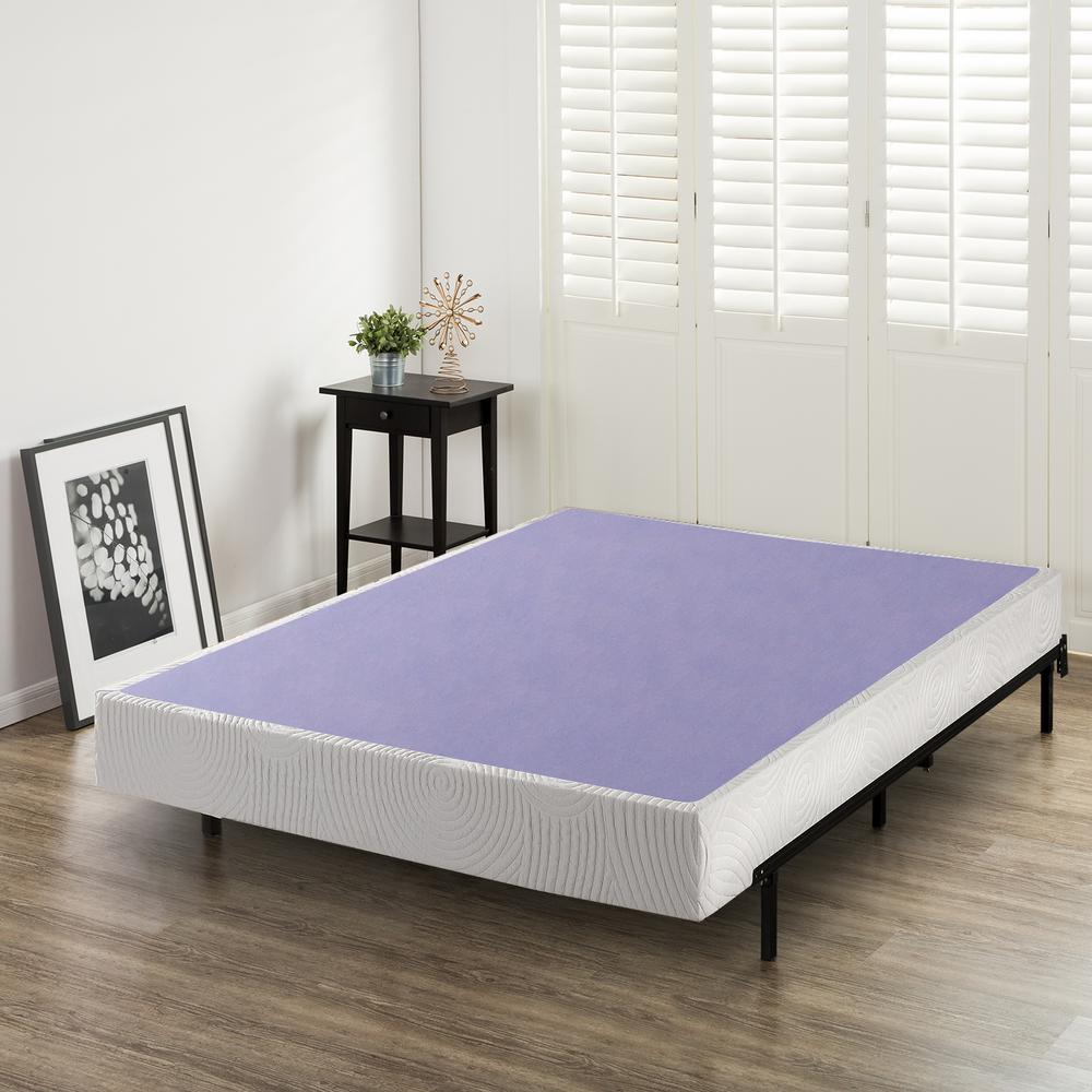 Zinus Edgar 8 Inch Profile Wood Box Spring/Mattress ...