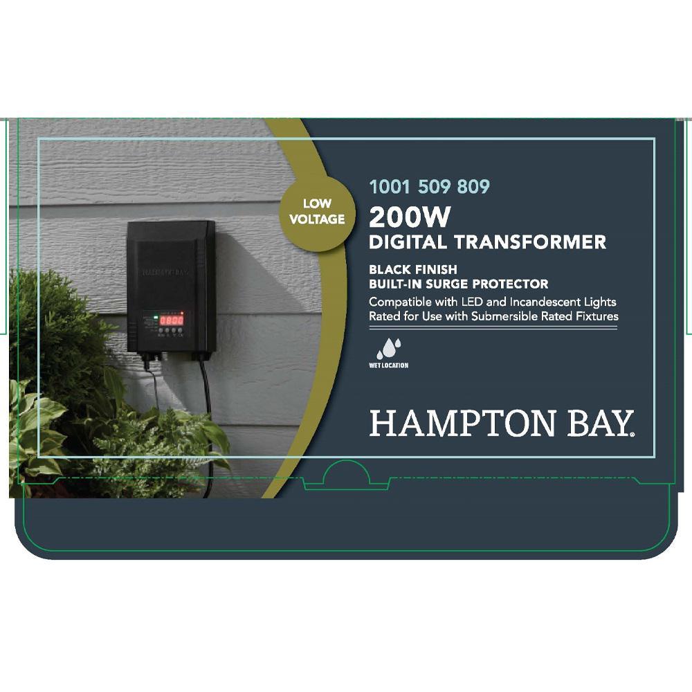 Hampton Bay Low Voltage 200 Watt Landscape Transformer Sl 200 12a The Home Depot