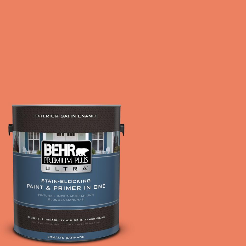 BEHR Premium Plus Ultra 1-gal. #200B-6 Mesa Sunrise Satin Enamel Exterior Paint