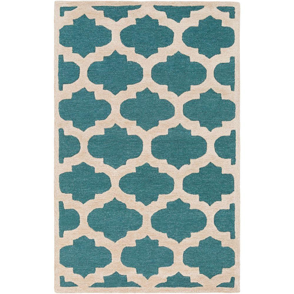 Arise Hadley Teal 4 ft. x 6 ft. Indoor Area Rug