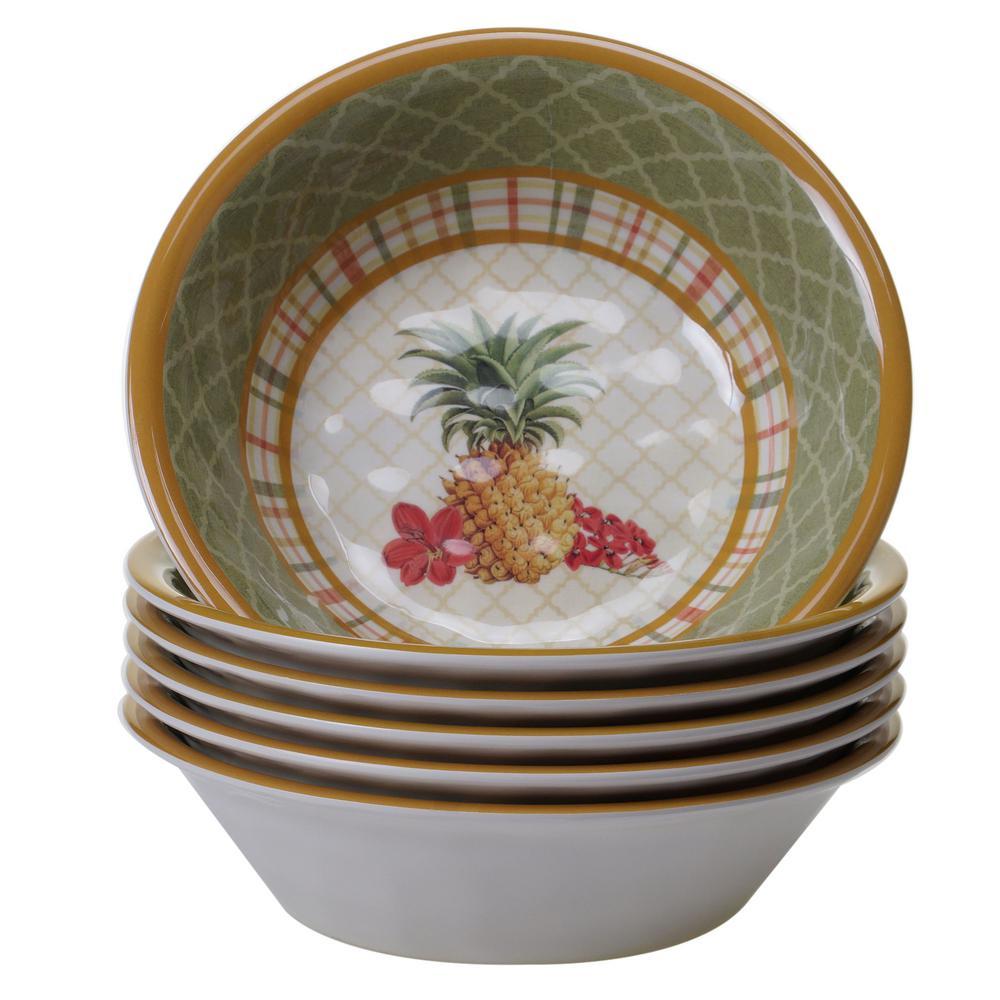 Floridian 6-Piece Green Bowl Set