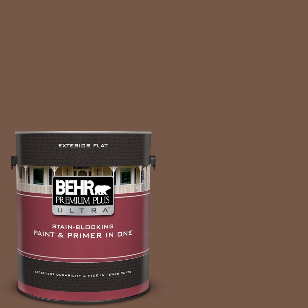 N250 7 Mission Brown Flat Exterior Paint And Primer In One